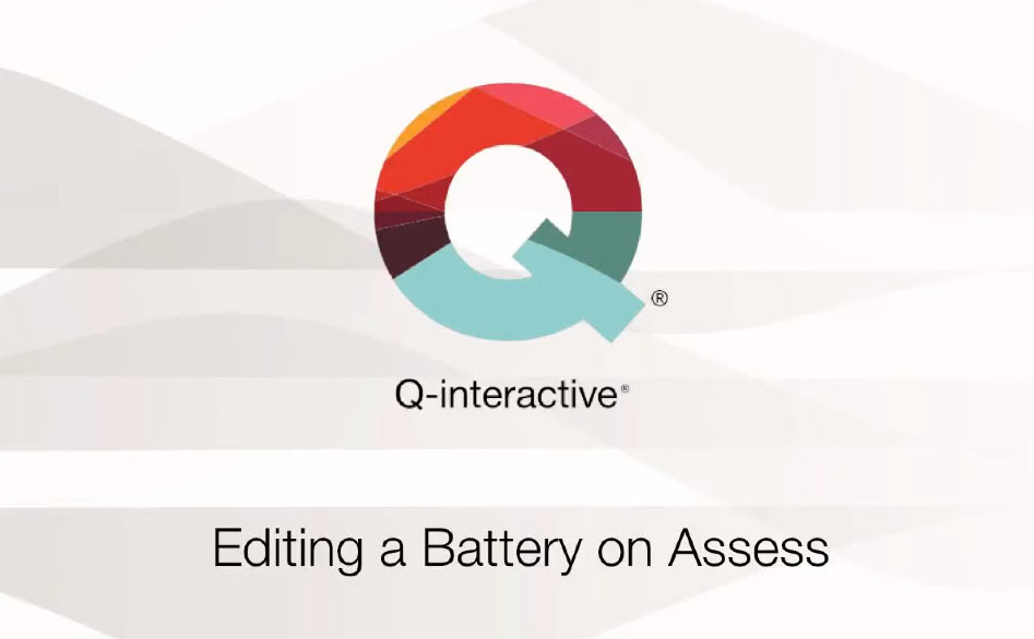 Editing a Battery on Assess